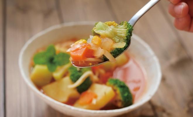 トマトのサラダスープ